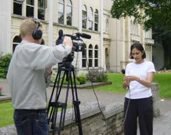 Training two Video Journalists at the BBC