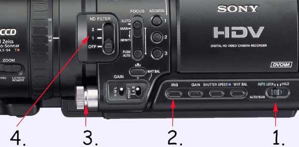 sony hvr z1 course workbook and training manual part 3 exposure rh urbanfox tv sony bdv-z7 user manual Camera Sony HD Z7